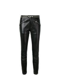 Pantalon slim en cuir à clous noir RED Valentino