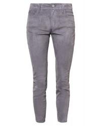 Pantalon slim en cuir gris Closed
