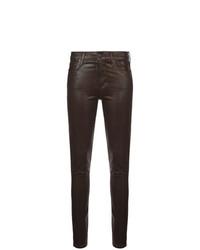 Pantalon slim en cuir noir Citizens of Humanity
