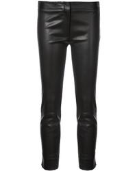 Pantalon slim en cuir noir Derek Lam