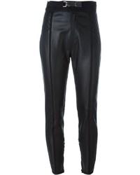 Pantalon slim en cuir noir Dsquared2
