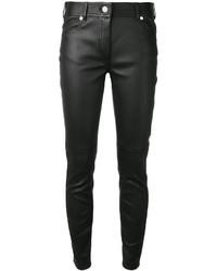 Pantalon slim en cuir noir Givenchy