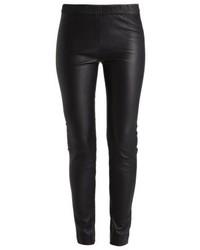 Pantalon slim en cuir noir J.Crew