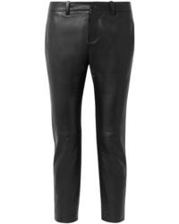 Pantalon slim en cuir noir Nili Lotan
