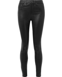 Pantalon slim en cuir noir Rag & Bone