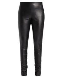 Pantalon slim en cuir noir Sand Copenhagen