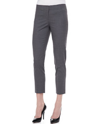 Pantalon slim en laine gris foncé