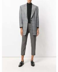Pantalon slim en laine gris Thom Browne
