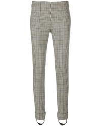 Pantalon slim en laine imprimé gris Ermanno Scervino