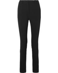 Pantalon slim en laine noir