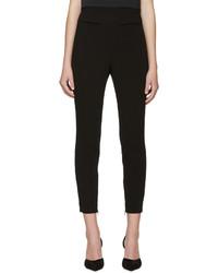 Pantalon slim en laine noir Alexander McQueen