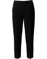 Pantalon slim en laine noir Chloé