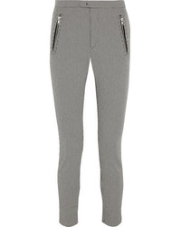 Pantalon slim en pied-de-poule gris Etoile Isabel Marant