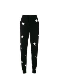 Pantalon slim en tricot noir et blanc Chinti & Parker