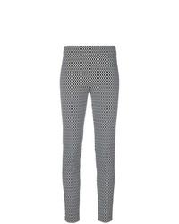 Pantalon slim en tricot noir et blanc D-Exterior