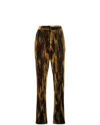 Pantalon slim en velours marron Saint Laurent