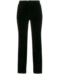Pantalon slim en velours noir Dolce & Gabbana