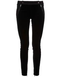Pantalon slim en velours noir Stella McCartney