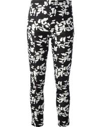 Pantalon slim imprimé blanc et noir Chloé