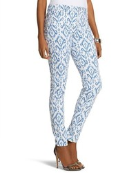 Pantalon slim imprimé bleu