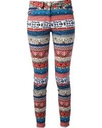 Pantalon slim imprimé multicolore Kenzo