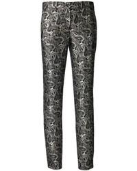 Pantalon slim imprimé noir et blanc Michael Kors