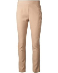 Pantalon slim marron clair