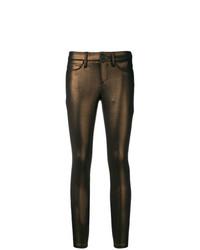 Pantalon slim marron foncé Cambio