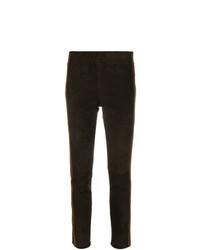 Pantalon slim marron foncé P.A.R.O.S.H.