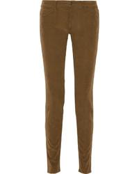 Pantalon slim marron