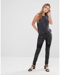 Pantalon slim noir Only