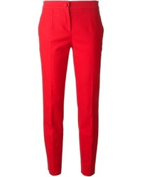 Pantalon slim rouge Dolce & Gabbana