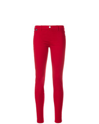 Pantalon slim rouge Love Moschino