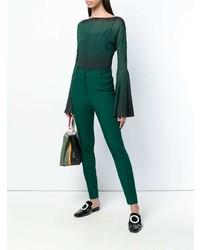 Pantalon slim vert foncé Lanvin