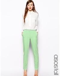 Pantalon slim vert menthe Asos