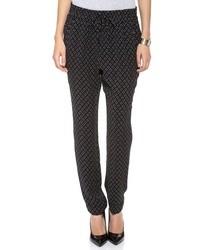 Pantalon style pyjama à étoiles bleu marine A.L.C.