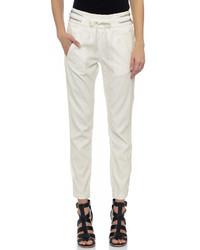 Pantalon style pyjama blanc