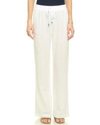 Pantalon style pyjama blanc Splendid