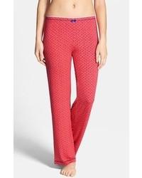Pantalon style pyjama géométrique rouge