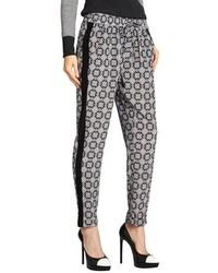 Pantalon style pyjama noir et blanc