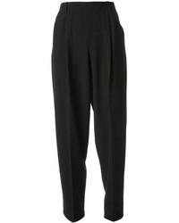 Pantalon style pyjama noir