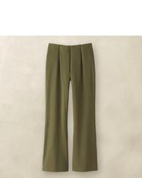 Pantalon style pyjama olive
