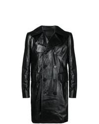 Pardessus en cuir noir Givenchy