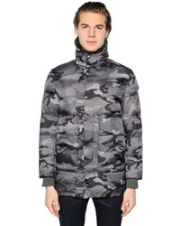 Parka camouflage grise