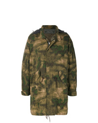 Parka camouflage olive Golden Goose Deluxe Brand