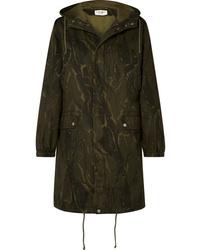 Parka camouflage olive Saint Laurent