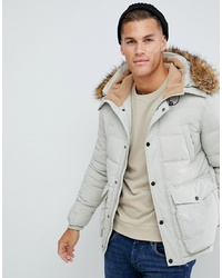 Parka grise Burton Menswear