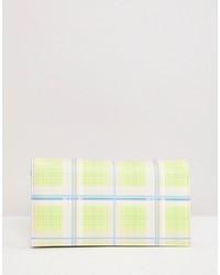 Pochette à carreaux multicolore ASOS DESIGN