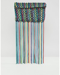 Pochette à franges multicolore ASOS DESIGN