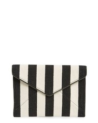 Pochette à rayures verticales noire et blanche